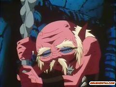 アニメ無修正:Muscular hentai monster hard fight [海外エロ動画]