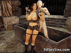 アニメ無修正:3D Zombie Fucks Lara Croft! [海外エロ動画]