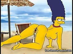 アニメ無修正:Simpsons porn parody [海外エロ動画]