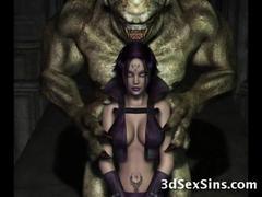 アニメ無修正:Monsters Fuck 3D Elf Princesses! [海外エロ動画]