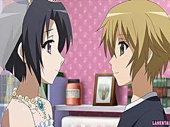 アニメ無修正:Hentai bride gets fucked [海外エロ動画]