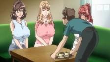 アニメ無修正:Huge titted hentai brunette on top [海外エロ動画]