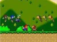 Marioの「ゴー!」に合わせてマリオの映像が流れていく動画