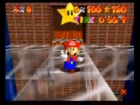 スーパーマリオ64 さむいさむいマウンテン 100コインスター 最速クリア動画56秒9(実機)