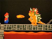 ペラペラ動画。YouTubeの神が紙でマリオを表現したゲーム動画