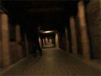 採掘坑の傾斜通路をローラーブレードで爆走。これは凄い