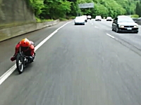 目線ひくっ!グラビティーバイクで峠道を下ったった動画。スピード感すごそう