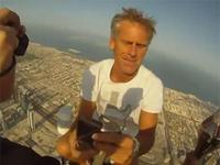 世界最高層ビル「ブルジュ・ハリファ」の先端からの映像