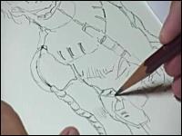 安彦良和さんがシャア・アズナブルのイラストを描き上げるムービーが話題。
