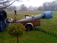 どうしてこうなった?自家製キャノン砲の恐るべき破壊力