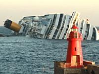 イタリアの豪華客船コスタ・コンコルディア号が座礁して沈没。6名が死亡。