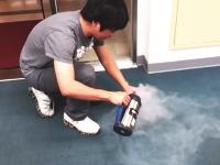 液体窒素ボトルが手元でバアアン!と爆発して大丈夫かよ 音量注意