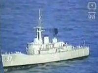 魚雷の凄まじい威力を思い知ることのできる直撃爆破ムービー