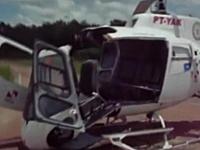 ヘリコプターが自分でフルボッコ&スクラップ。乗客4人は軽傷。