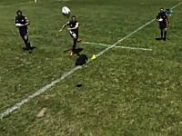 練習風景を盗み見ようとラジコンヘリを飛ばしたら選手に撃墜されたw