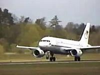 打ち上げ離陸。エアバスA319で角度がヤバすぎる急上昇したった動画。