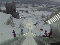 タマヒュン積載カメラ映像。スキージャンプの視点、これは怖過ぎる。