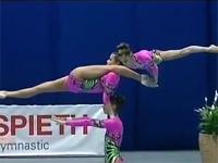 ロシアの『中国雑技団』レベルの新体操。人間ワザじゃない。