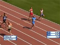 100メートルスプリントで膝がヤバいアクシデント。ゴール手前で関節が・・・。