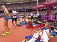 チェコの女子陸上選手の パンツ生着替え がTVで放送され話題に