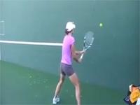 反応速度が凄過ぎる。テニス世界トップクラスの壁打ちが安定感抜群。