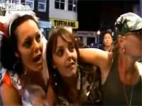 イギリスの映像。クラブに入れてよ!酔っ払い女達の醜態