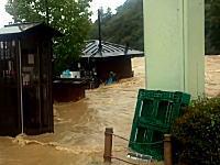 全国に猛威を振るった台風第18号で特に被害の大きかった京都の様子。