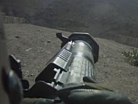 兵士視点でみるロケットランチャー(AT-4)の発射訓練映像。アフガニスタン