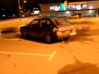 デパートの屋上駐車場でドリフトひゃっはーを撮影していたやつw