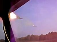軍事動画。自走多連装ロケット砲の発射シーンをコクピットから撮影した映像