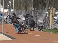 強風が吹くことで有名なデルフト工科大学のキャンパスが大変w(オランダ)