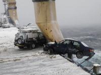 富山で中古車を満載してロシアに向かっていた貨物船が嵐に見舞われて悲惨な事に。