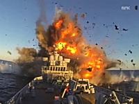 リアルの船をターゲットにした新型ステルス巡航ミサイルの発射、着弾テスト