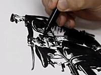 筆に一切の迷いなし!下書き無しで沢山の人物を一気に描き上げる金政基