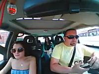これは良いお仕置き動画。ルール違反していたヤツに罰を与える車載ビ。