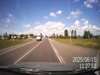 交尾中!?の牛のカップルを車ではねてしまうドライブレコーダー事故。