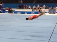 衝撃の世界デビューを飾った体操・期待の新星、白井健三くんの練習風景
