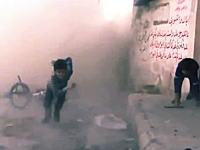 シリアで子供たちにインタビュー中に数メートル先に爆弾が降ってくる