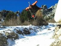 低っ!ムササビジャンパーの対地高度が低すぎる動画。猛スピードでこれは怖い。