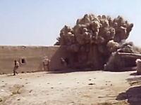 少し爆破のタイミングが早すぎたせいで二人の兵士が死にかけるギリギリビデオ。
