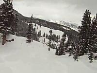 スノーボーダーの残したトラックを信用してはいけない理由。山スキーの注意点。