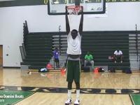 身長228.6センチメートルのバスケットボール選手がチートすぎる動画。