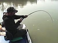 これは川の主か守り神やろwwwイタリアのとある川で釣り人がとんでもない魚を釣り上げる