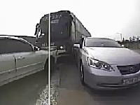 恐ろしい事故の瞬間の前後左右車載動画。どんだけカメラ付けてんだよw