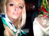 ビックリ注意。車を運転中に自画撮りしようとして大変な事になったイランの女の子たち