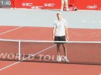 テニスでデカすぎるヤツに負けた選手がちょっと可愛い動画。コロンビア・オープン