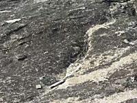 これはどういう事だ?爆発でも起きたように大きな花崗岩ドームが自然に剥離する瞬間。