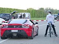 世界最速の自転車が速すぎるwwwwフェラーリを一瞬でチギる加速性能www