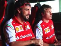 キミ・ライコネンとフェルナンド・アロンソが仲良くジェットコースターに。F1最終戦。