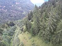 ムササビングで斜面スレスレに飛んで木と木の間を飛びぬける!カッコイイけどマジキチ動画